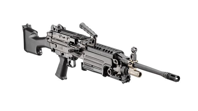 FN M249S rifle right angle