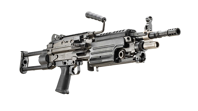 FN M249S PARA rifle right angle