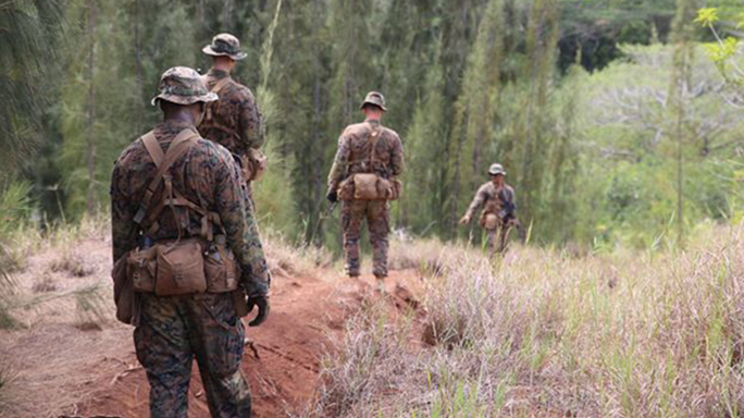 marine corps tropical uniform marching