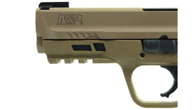 Smith & Wesson M&P M2.0 Pistol with TruGlo TFX Sights front sight
