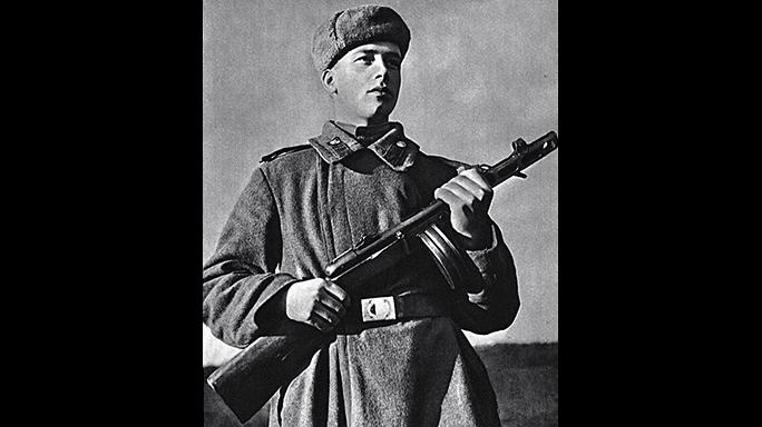 Soviet PPSh-41 submachine gun historical photo