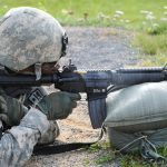 us army chief of staff mark milley m4 carbine firing