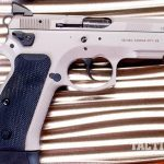 CZ SP-01 Tactical Urban Grey Suppressor-Ready pistol right profile