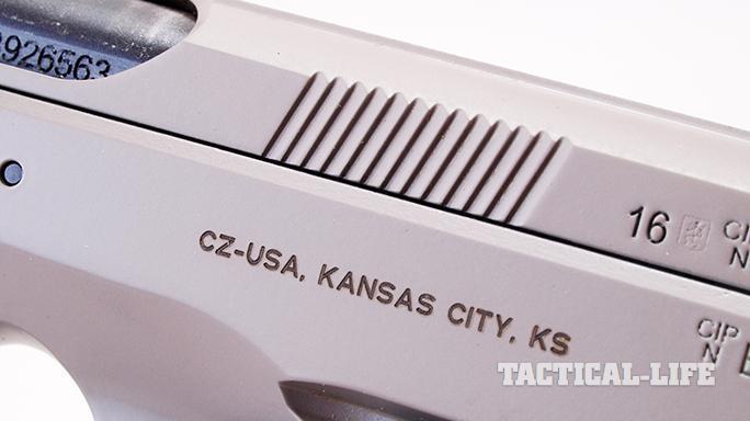 CZ SP-01 Tactical Urban Grey Suppressor-Ready pistol serrations
