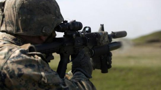 marines Colt M203 grenade launcher