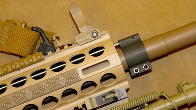 DRD Tactical Kivaari 300 Norma Magnum rifle handguard and front sight