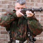 Steyr MP34 submachine gun aiming