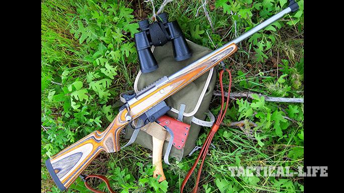 Tikka T3x Arctic rifle on bag