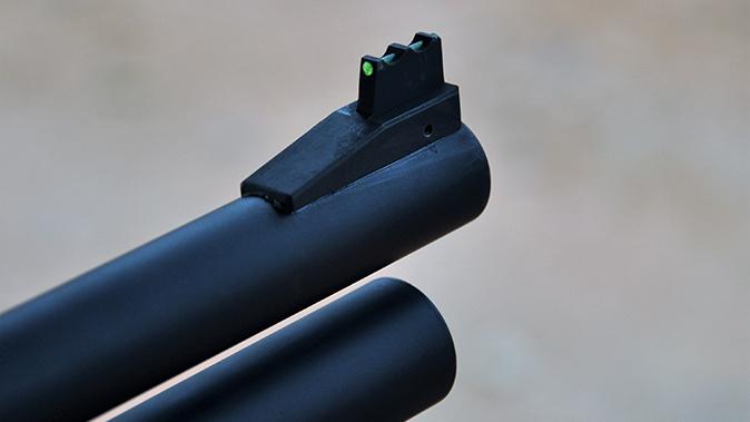 Wilson Combat Less Lethal 870 front sight closeup