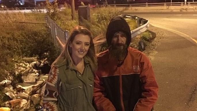 Homeless Veteran Fundraiser Marine Johnny Kate
