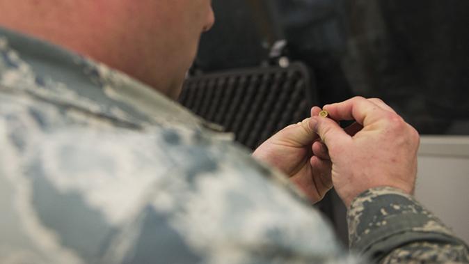 air force m17 modular handgun system test shell casing