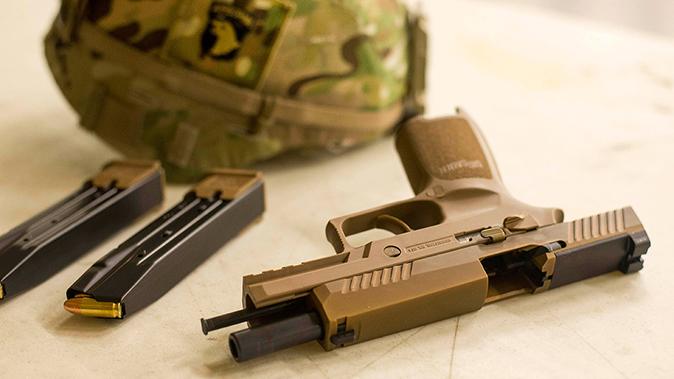 army MHS m17 slide