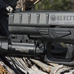 Beretta APX pistol light rail
