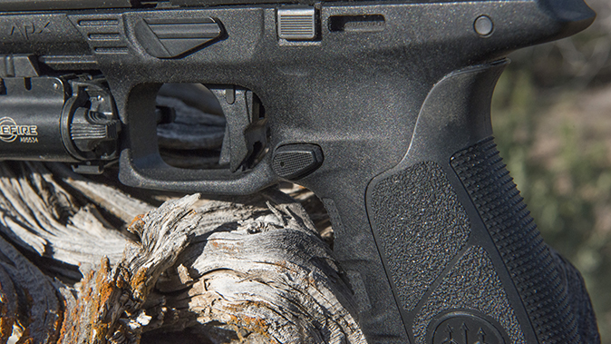 Beretta APX pistol trigger and mag release