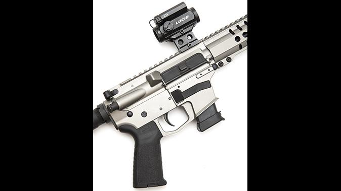 CMMG MkG DRB rifle optic