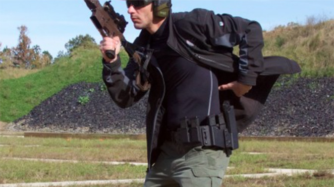 high threat concealment qrs salvo holster rig magazine