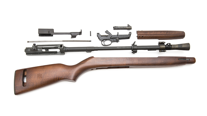 Inland T30 carbine disassembled