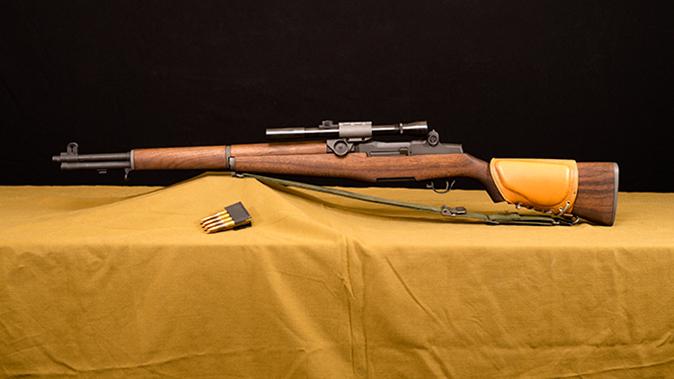 M1D Garand rifle left profile