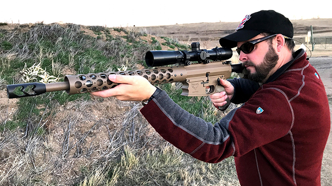 Phoenix Weaponry 45-70 rifle aiming