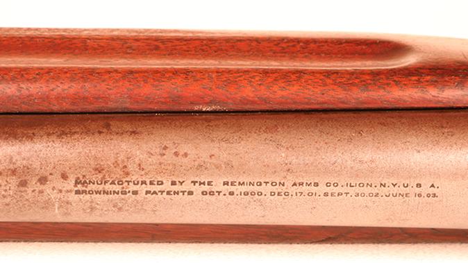 Remington Model 11 shotgun barrel markings