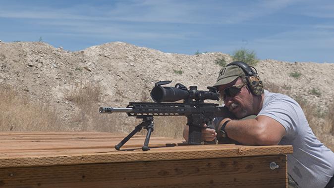 riflescope aiming left angle