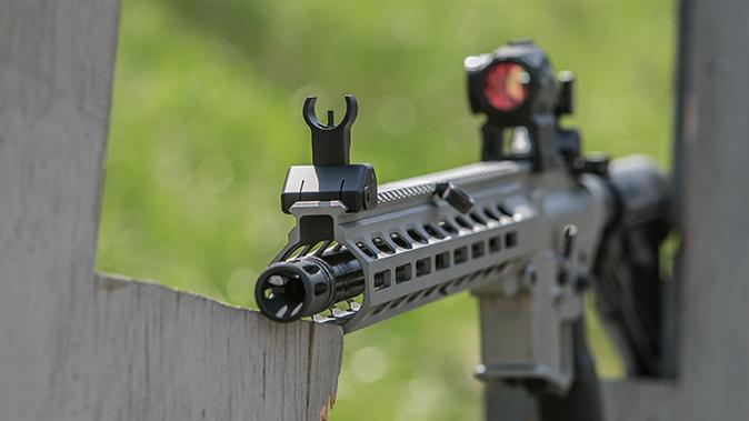 Sig Sauer M400 Elite rifle iron sight