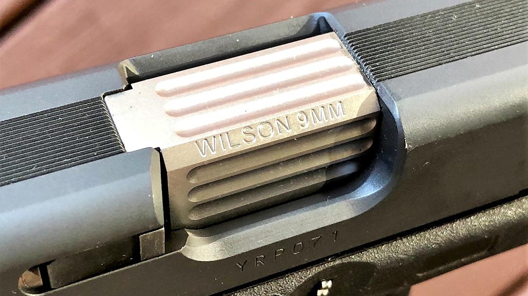 Custom Wilson Combat Glock 19 Gen4 pistol ejection port
