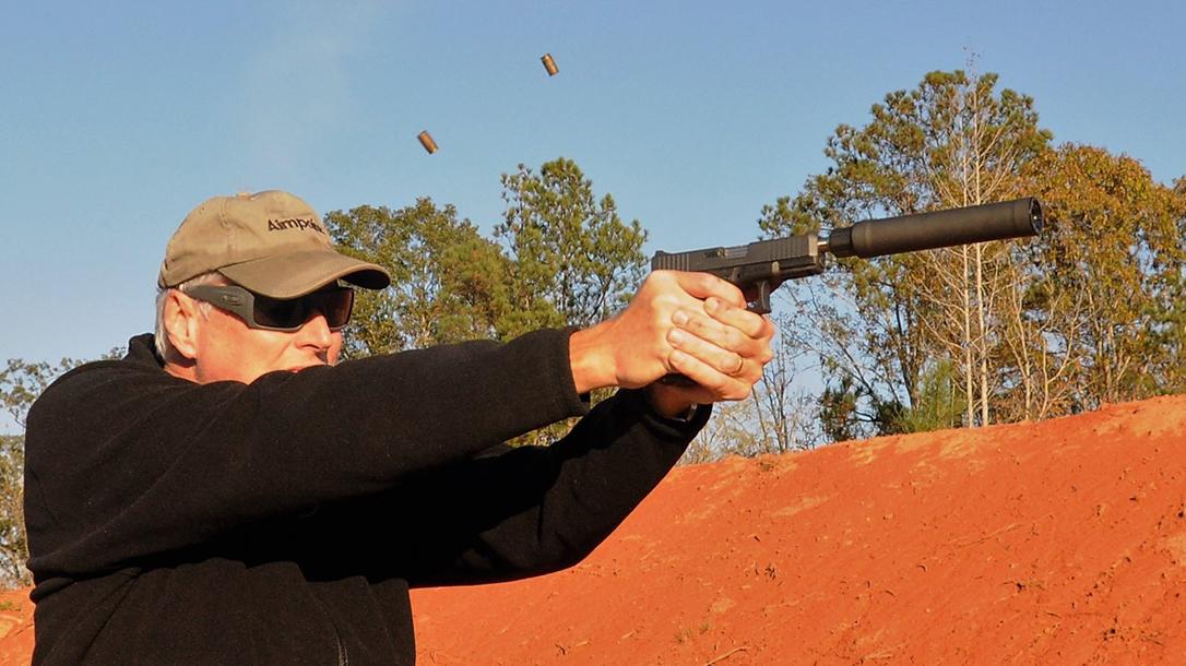 Custom Wilson Combat Glock 19 Gen4 pistol suppressor