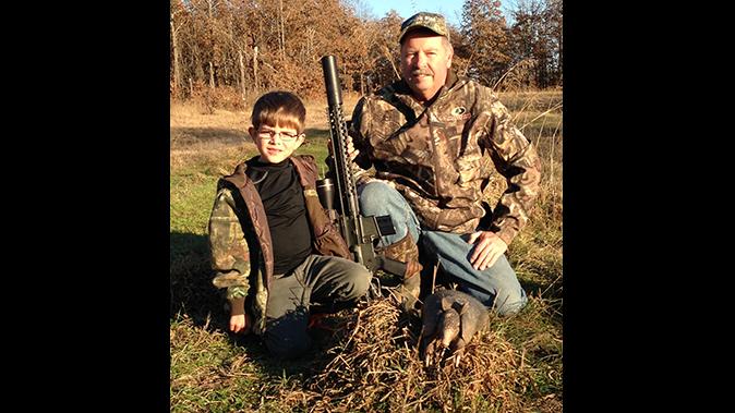 bill wilson ar hunting with son