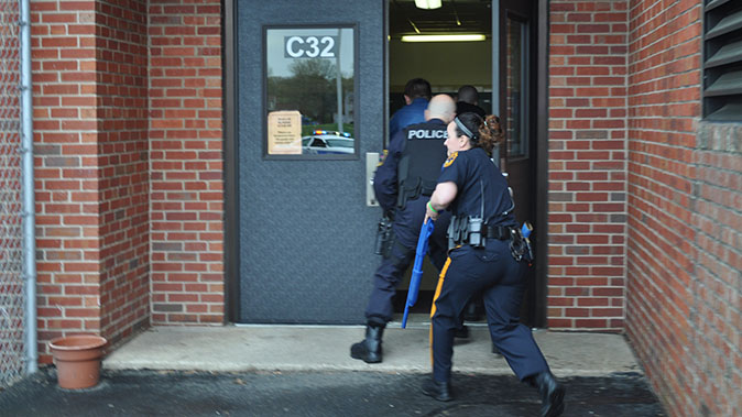 active shooter entering school