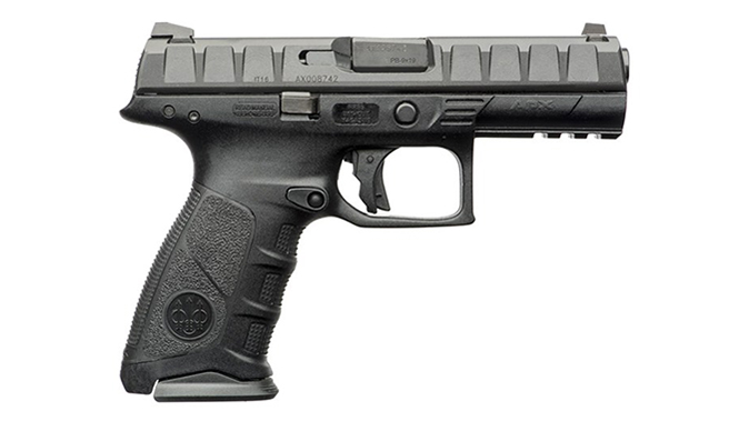 The Beretta APX features a modular design with interchangeable grips.