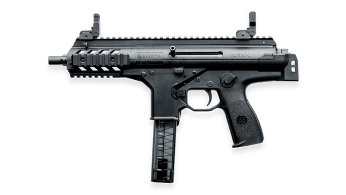 Beretta PMX submachine gun folded left profile