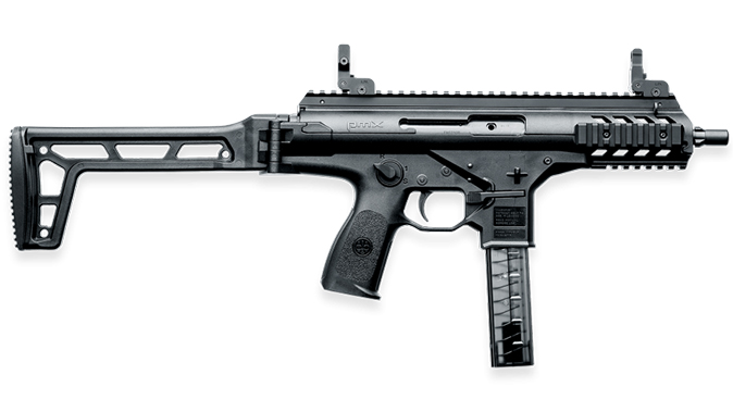 Beretta PMX submachine gun extended right profile
