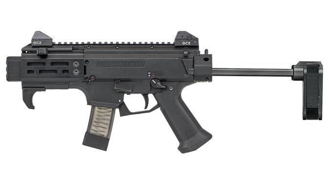 CZ Scorpion EVO 3 S2 Pistol Micro w/ Brace left profile