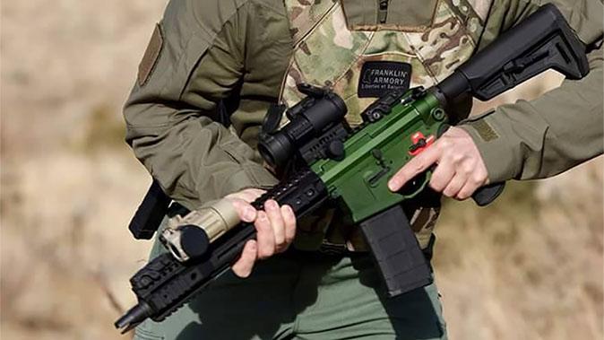 Franklin Armory Reformation firearm angle