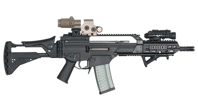 HK G36K rifle right profile