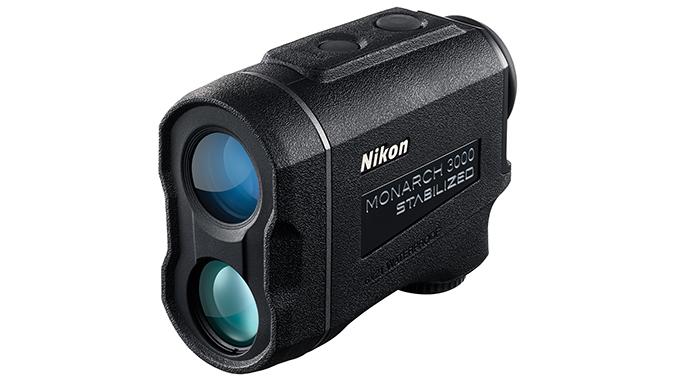 Nikon Monarch 3000 Stabilized rangefinder left angle