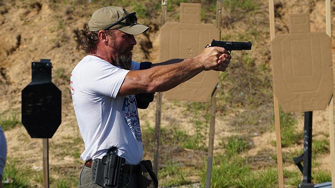 train like you fight pat mac shooting stance