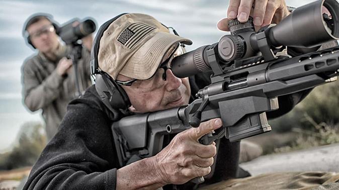 Remington Model 700 PCR rifle aiming