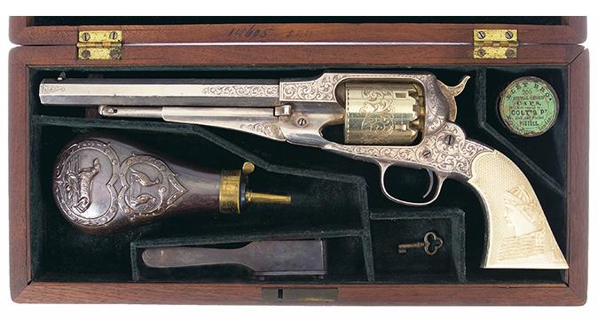 remington revolvers gold