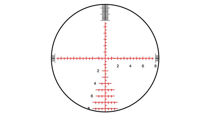 savage model 10 grs rifle scope reticle