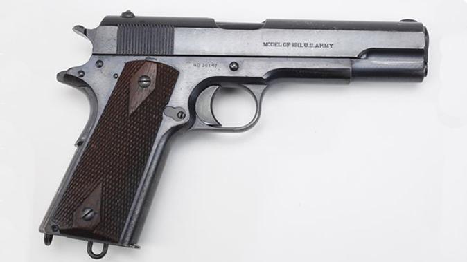 army surplus 1911 pistol right profile