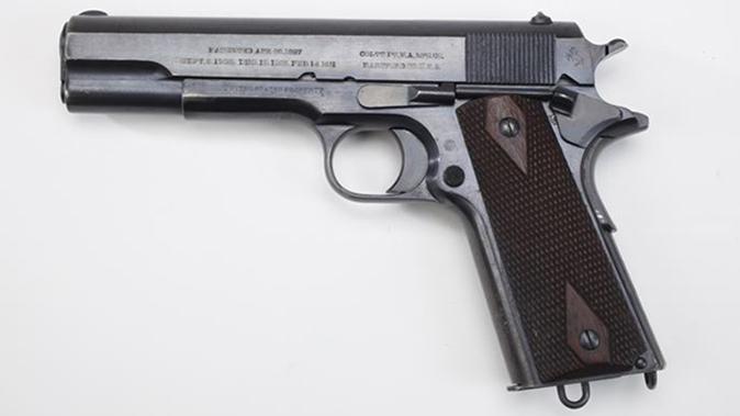 army surplus 1911 pistol left profile