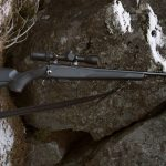 Tikka T1x MTR rifle on rock