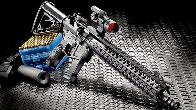 Wilson Combat AR9B carbine left angle