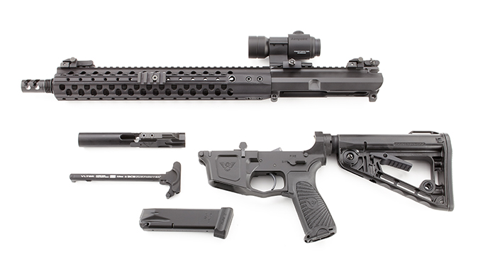 Wilson Combat AR9B carbine disassembled