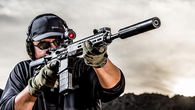 Barrett REC10 rifle shooting