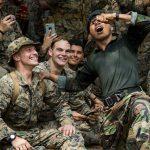 marines cobra gold tarantula eating