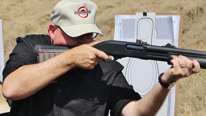tactical shotgun mounted