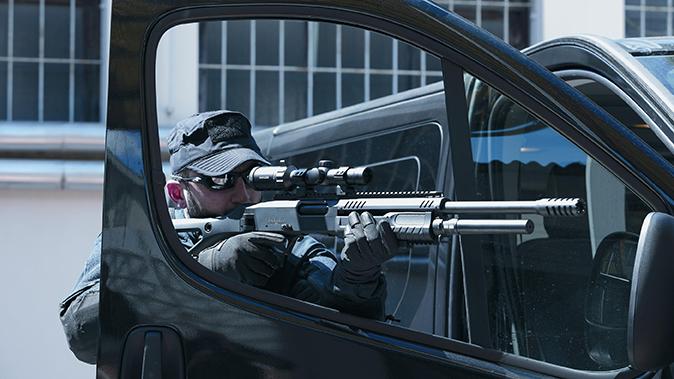 fabarm STF 12 Shotgun car door